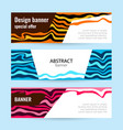 set horizontal color banners with white paper and vector image vector image