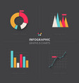 set of flat design infographic charts and graphs vector image vector image