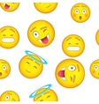 Smiley pattern cartoon style vector image