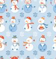 Snowmen seamless Background vector image vector image