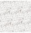Spring garden pattern backgroundToolsplants vector image vector image