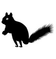 squirrel silhouette icon eps vector image vector image