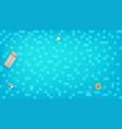 swimming pool top view swimming ring beach balls vector image vector image