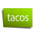 tacos square paper sign isolated on white vector image vector image