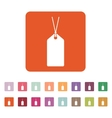 The price tag icon Label symbol Flat vector image