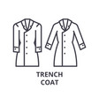 trench coat line icon outline sign linear symbol vector image vector image