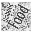 using food pyramid in diabetic diets word vector image vector image