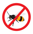 Warning sign bee vector image