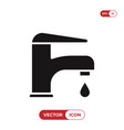 water tap icon faucet vector image