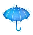 Watercolor Umbrella Rain Drops vector image