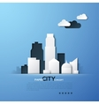 White paper city concept vector image vector image