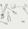 repair carpentry and woodwork work tools sketch vector image