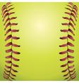 Closeup of a Softball