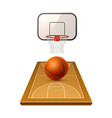 3d basketball playground model for betting vector image vector image