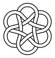 ancient infinity knot pattern sign is a symbol of vector image vector image