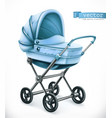 baby carriage stroller 3d icon vector image vector image