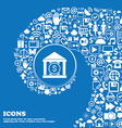 bank icon Nice set of beautiful icons twisted vector image vector image