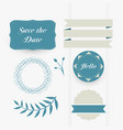 beautiful set of decorative wedding design vector image