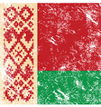 Belarus retro flag vector image