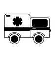 Black icon ambulance car cartoon vector image