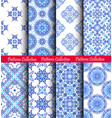 blue weave patterns backgrounds vector image vector image