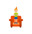 boy in festive evening of fun and clappin vector image vector image
