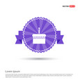 cake icon - purple ribbon banner vector image vector image
