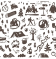 Camping - seamless background vector image vector image