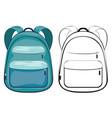 cartoon school backpack vector image vector image