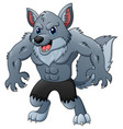 cartoon werewolf vector image