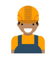 caucasian character young builder confident man in vector image