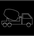 cement mixers truck white color path icon vector image vector image