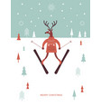 christams greeting card vector image
