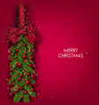 Christmas background with balls and fir twig