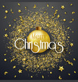 christmas background with shining gold ribbons vector image vector image