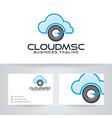 cloud music logo vector image vector image