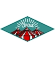 Color vintage circus emblem vector image vector image