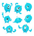 colored monster in cartoon style different vector image vector image