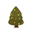 colorful autumn pine tree cartoon yellow orange vector image vector image
