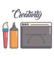 creativity process design vector image vector image
