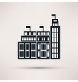 Customs building icons in a flat style vector image
