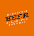 decorative italic serif font vector image vector image