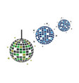disco ball icon design vector image vector image