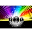 discotheque banner template with rainbow vector image vector image