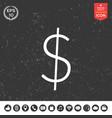 dollar symbol icon vector image vector image