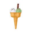 double ice cream cone vector image