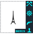 eiffel tower icon flat vector image vector image