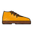 elegant male shoe vector image