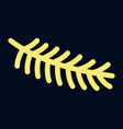 fir tree branch icon outline style vector image