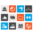 Flat hotel and motel amenity icons vector image vector image